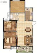 香榭里畔山兰溪2室2厅1卫102平方米户型图