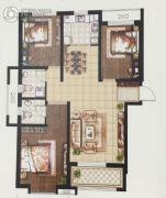 天洲视界城3室2厅2卫127平方米户型图