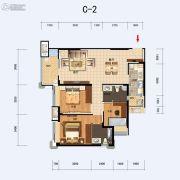 福星惠誉东湖城2室2厅1卫106平方米户型图