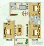 林荫春天3室2厅2卫115平方米户型图