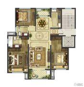 御香园4室2厅2卫126平方米户型图