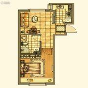银亿格兰郡1室1厅1卫51平方米户型图