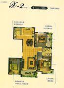 恒通蓝湾国际3室2厅2卫128平方米户型图