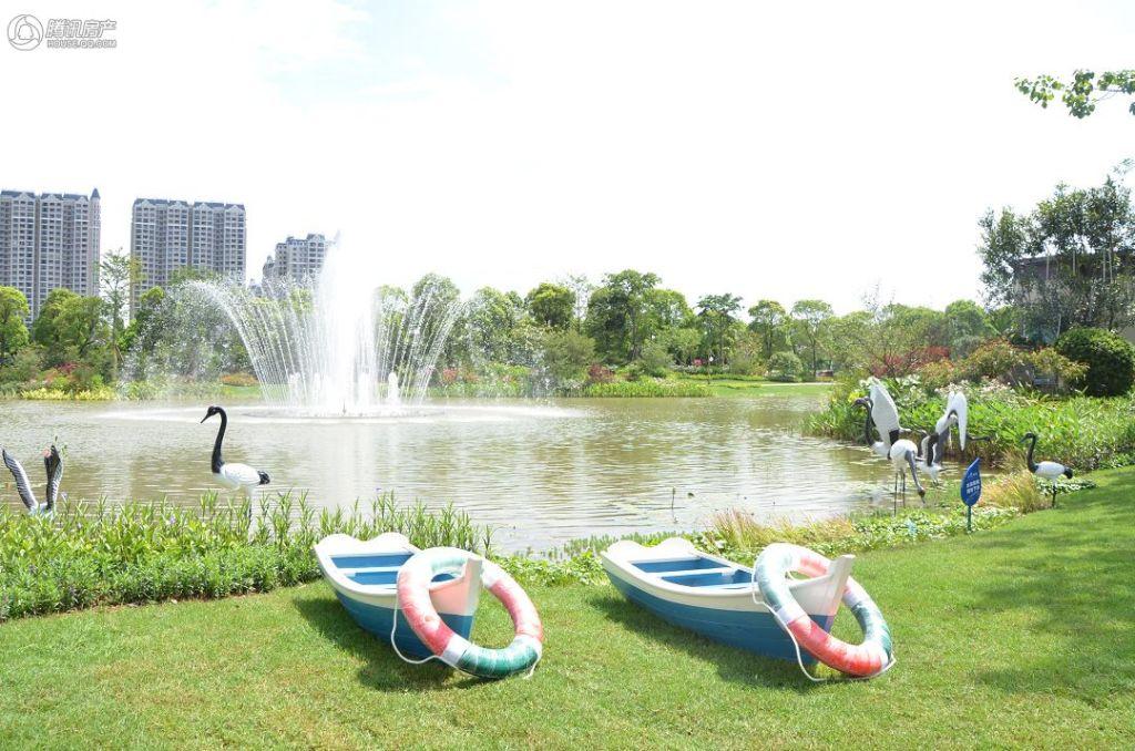 项目中法艺术公园实景图园林