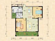 科特・明日华府二期2室2厅1卫104平方米户型图
