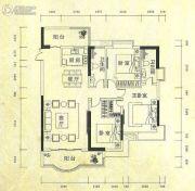 金城大厦3室2厅2卫110--115平方米户型图