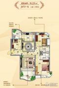碧桂园东洲壹�院3室1厅2卫129平方米户型图