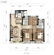 绿城华景川・之江明月3室2厅2卫89平方米户型图