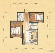 国茂清华园2室1厅1卫75平方米户型图