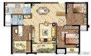 世茂香槟湖3室2厅1卫99平方米户型图