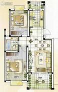 世纪嘉城2室1厅1卫89平方米户型图