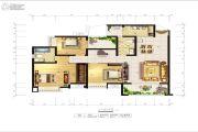 兴发龙溪谷3室2厅2卫129平方米户型图