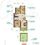 昂展公园里3室2厅1卫108平方米户型图
