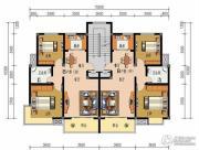 申鑫名城2室2厅1卫73平方米户型图