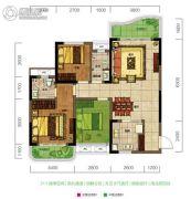 旺德府恺悦国际3室2厅1卫98平方米户型图
