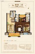 扬州新城吾悦广场3室2厅2卫109平方米户型图