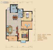 龙城华府2室2厅1卫100平方米户型图