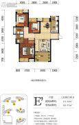 海赋长兴二期奥林阳光公园3室2厅2卫111平方米户型图