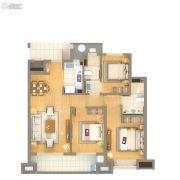 雅戈尔壹号3室2厅2卫110平方米户型图