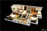 雅居乐林语城3室2厅1卫96平方米户型图