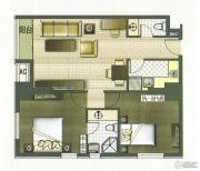 城市桂冠2室1厅1卫99平方米户型图