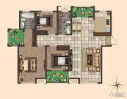 荣邦城3室2厅2卫130平方米户型图