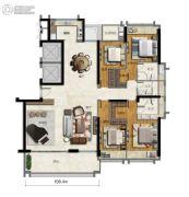 海�Z天翡4室2厅3卫229平方米户型图