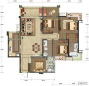 巴黎时光4室2厅2卫122平方米户型图