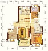海宏江南壹号3室2厅2卫131平方米户型图