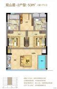 泰禾明�N厦门湾2室1厅2卫0平方米户型图