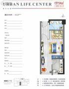 中铁立丰城市生活广场1室1厅1卫37平方米户型图