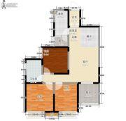 东岭国金中心3室0厅1卫89平方米户型图