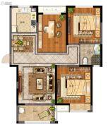 天地源拾锦香都3室2厅1卫115平方米户型图