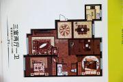 香格里拉花园3室2厅1卫125平方米户型图