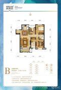 温泉新都孔雀城英国宫3室2厅2卫99--101平方米户型图