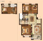 金麟府3室2厅1卫89平方米户型图