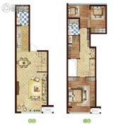 万和春天商业中心3室2厅2卫0平方米户型图