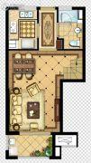 金地名悦3室2厅2卫95平方米户型图