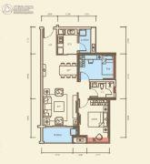 海伦堡・爱Me城市2室2厅1卫77平方米户型图