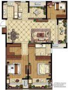 金地湖城艺境4室2厅2卫135平方米户型图