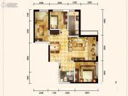 城关江南明珠2室2厅1卫64平方米户型图