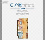 鹏欣金游城1室1厅1卫40平方米户型图
