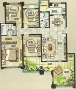 绿都万和城4室2厅2卫145平方米户型图