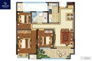 银洲皇家学苑3室2厅1卫97平方米户型图