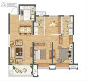 金科城3室2厅2卫113平方米户型图