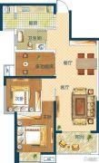 深业世纪新城3室2厅1卫89平方米户型图