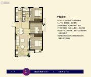 阿奎利亚8.0组团3室2厅1卫98平方米户型图