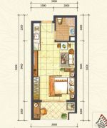 万达西双版纳国际度假区1室0厅1卫41平方米户型图