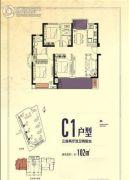 禹洲・剑桥学苑3室2厅2卫0平方米户型图