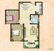 楚河花园2室2厅1卫118平方米户型图